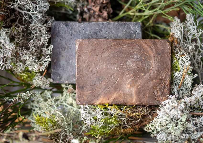 Peat soap